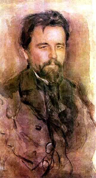 Painting of Anton Chekhov by Valentine Serov