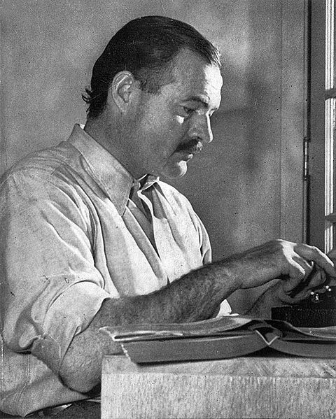 A picture of the author Ernest Hemingway