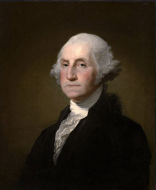 A portrait of George Washington