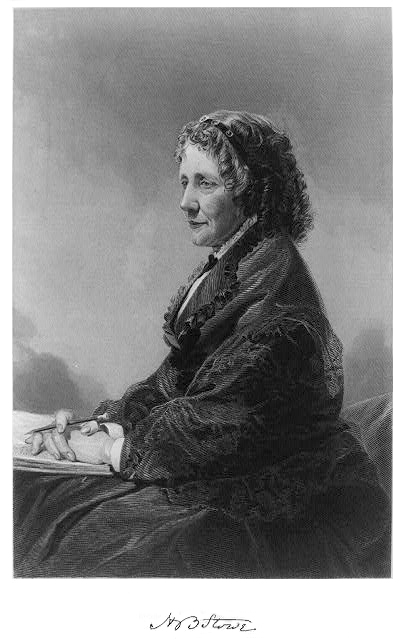 A picture of the author Harriet Beecher Stowe