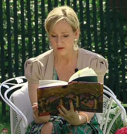 A picture of the author J.K. Rowling