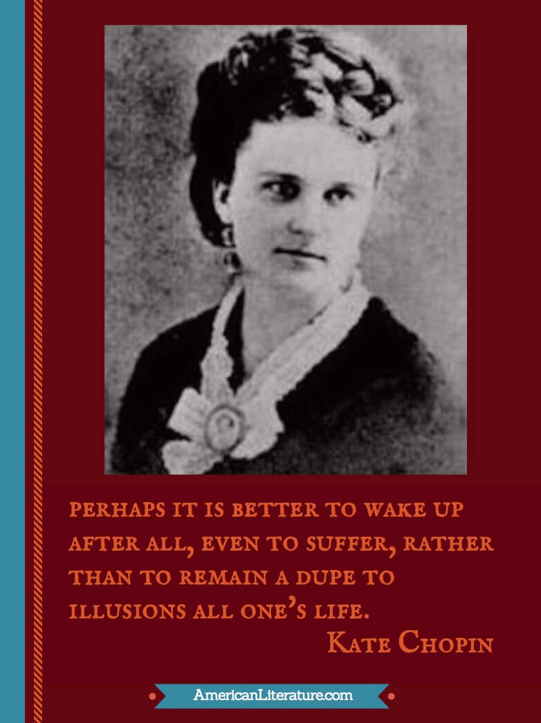 kate chopin in the story Kate chopin perhaps it is better to wake up after all but the story stops short of explicit description of the anticipated second visit bibliographic sources.