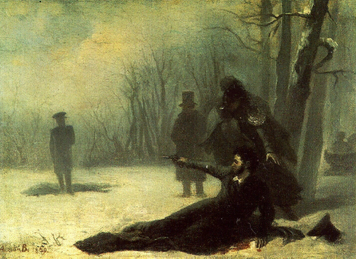 Akexsander Pushkin's duel with Georges d'Anthes