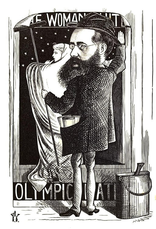 Cartoon of Wilkie Collins