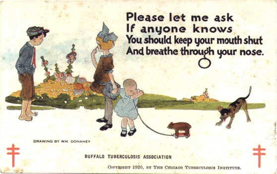 William Donahey, Public health postcard, 1920