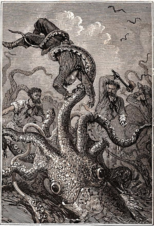 A picture for the book 20,000 Leagues Under the Sea