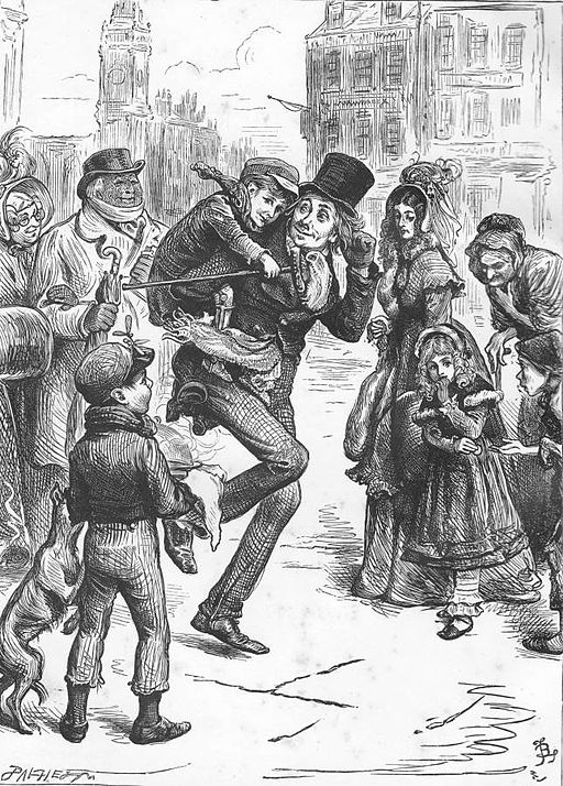 A Christmas Carol, illustrated by John Leech, Tiny Tim