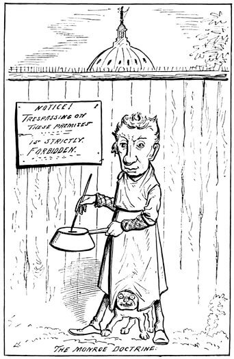 A Comic History of the United States, The Monroe Doctrine