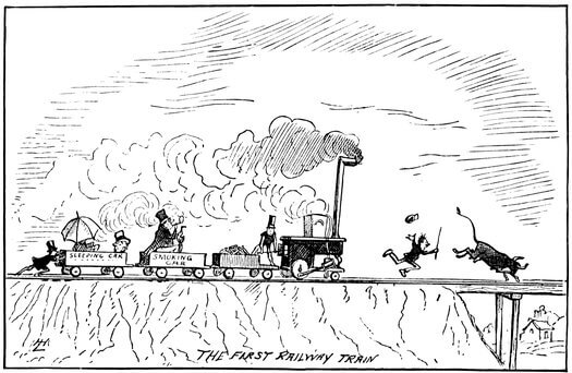 A Comic History of the United States, Railway train