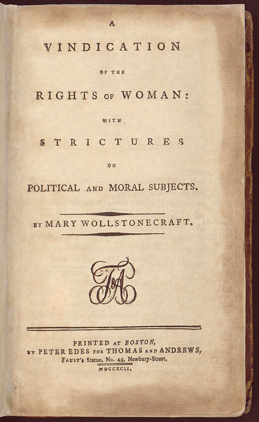 A picture for the book A Vindication of the Rights of Woman