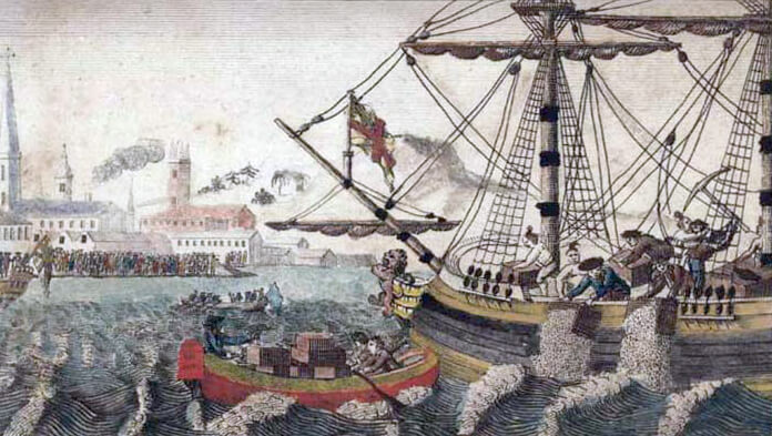 Abigail Adams and Her Times, The Boston Tea Party