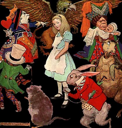 A picture for the book Alice In Wonderland