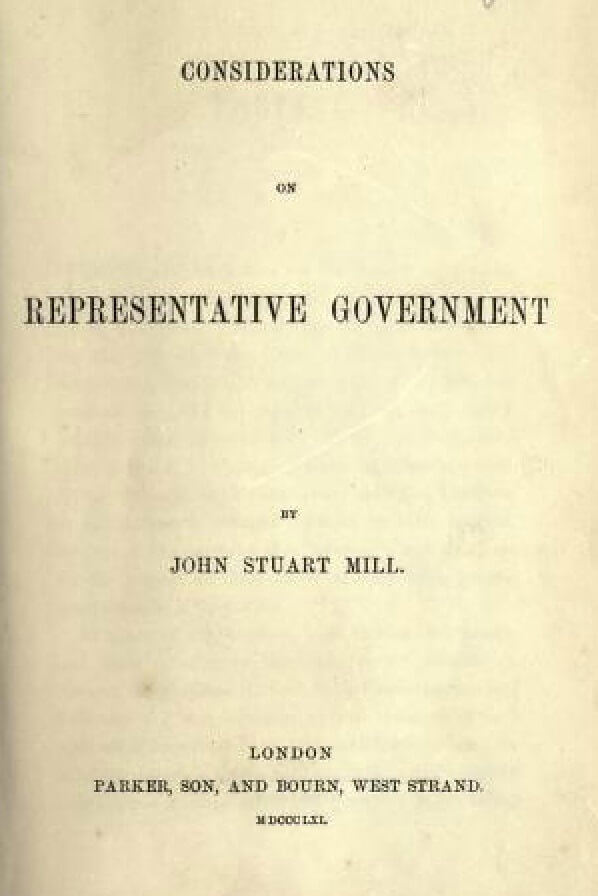 A picture for the book Considerations on Representative Government