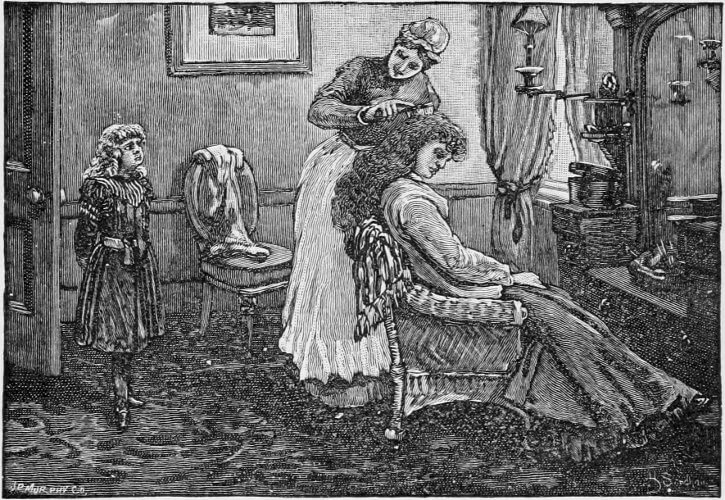 Editha's Burglar, combing hair