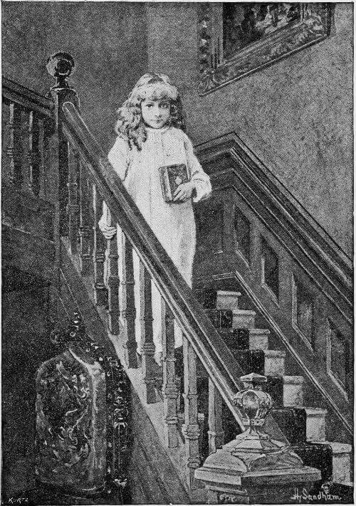 Editha's Burglar, Editha on staircase