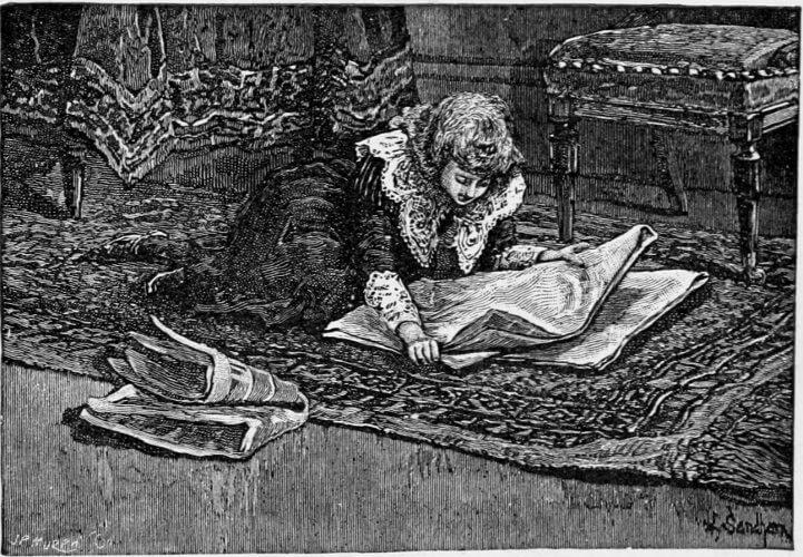 Editha's Burglar, fond of newspapers