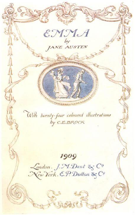 Jane Austen, Emma frontis