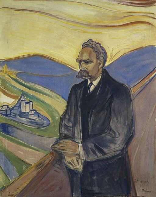 Nietzsche portrait by Edvard Munch, 1906