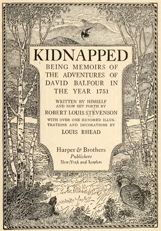 Kidnapped, 1886 cover