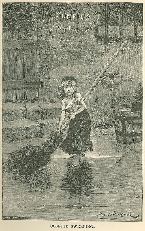 Les Miserables, Cosette sweeping