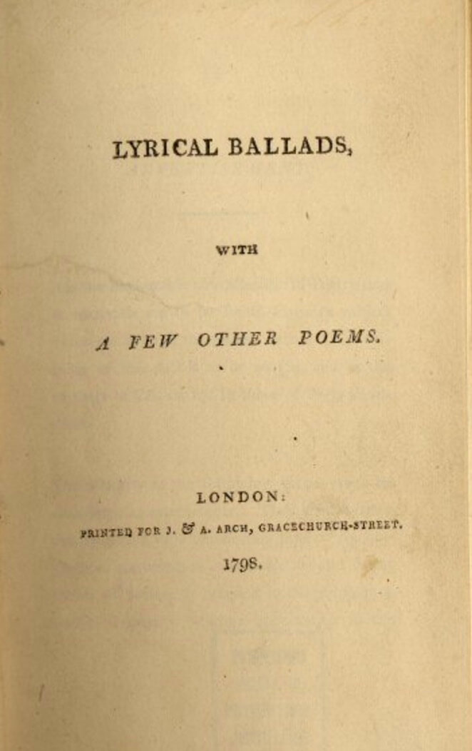 A picture for the book Lyrical Ballads, With a Few Other Poems