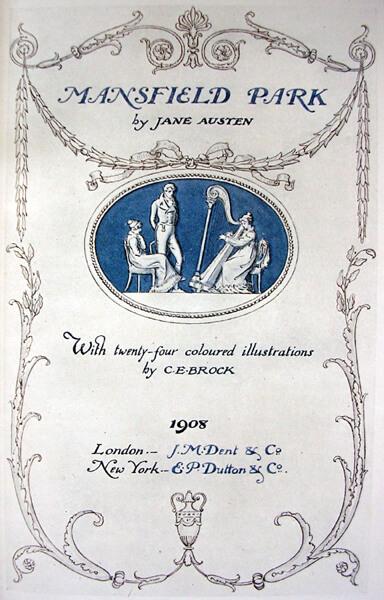 Jane Austen, Mansfield Park frontis