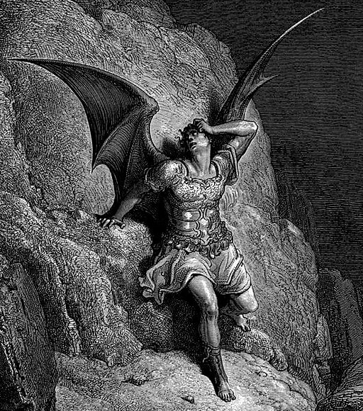 John Milton, Paradise Lost illustration by Gustave Dore, Satan, 1866