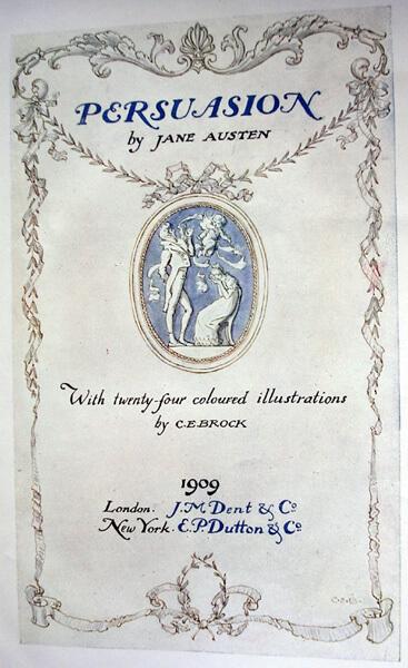 Jane Austen, Persuasion frontis