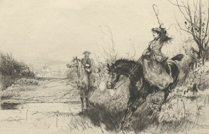 Rob Roy, Miss Vernon on horseback