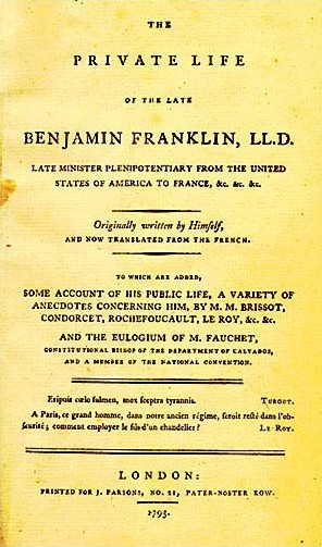 A picture for the book The Autobiography of Benjamin Franklin