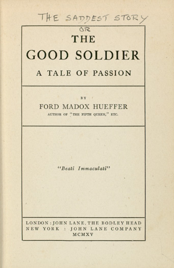 A picture for the book The Good Soldier