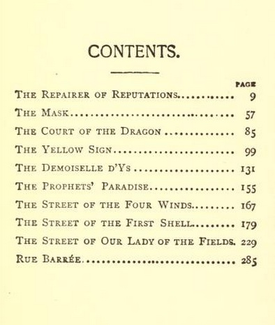 A picture for the book The King in Yellow