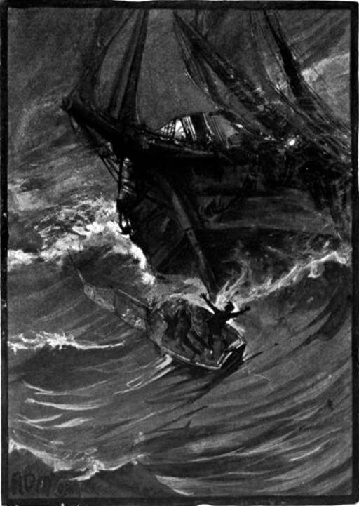 The Narrative of Arthur Gordon Pym, The Penguin sinks