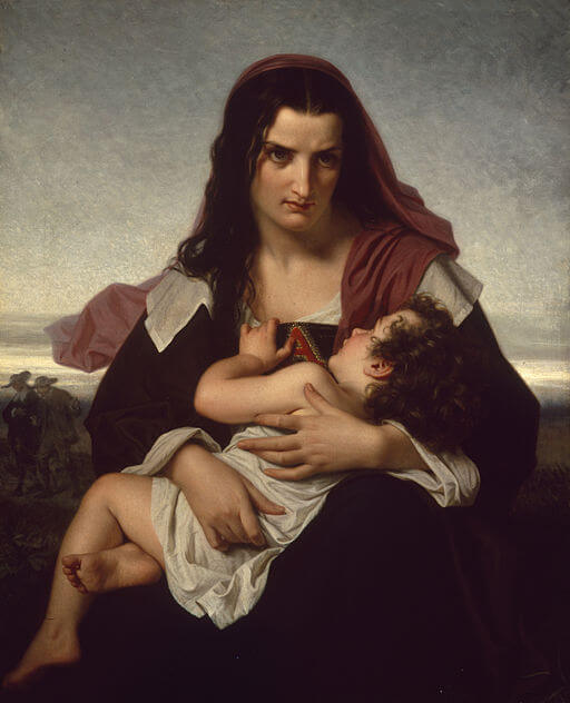 The Scarlet Letter: Painting by Hugues Merle, 1859