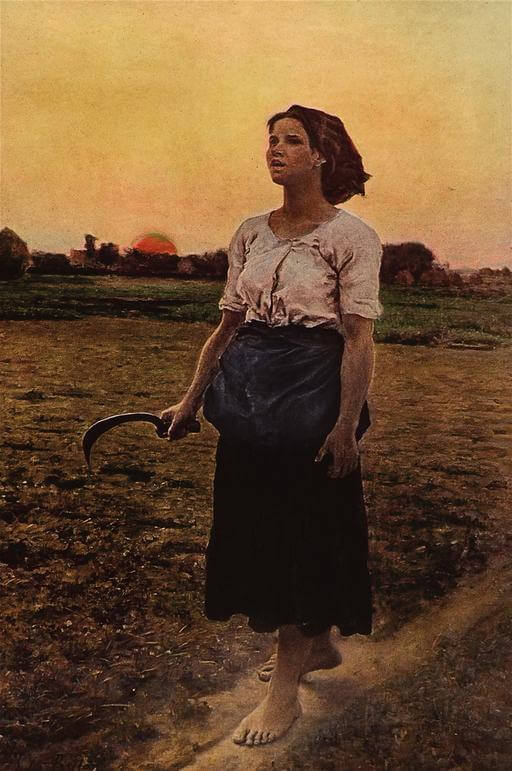 Jules Breton, Song of the Lark, 1884
