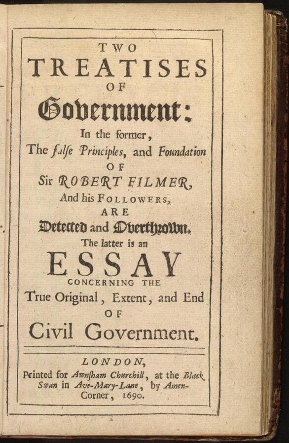 A picture for the book Two Treatises of Government