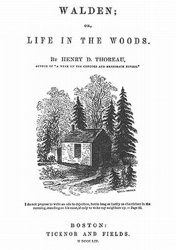 thoreau walden transcendentalism essay Walden by henry david thoreau time of transcendentalism, but thoreau came along with something walden, you'll see thoreau using many literary references to.