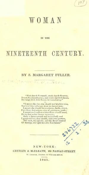A picture for the book Woman in the Nineteenth Century