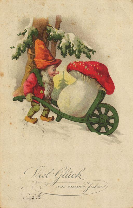 German Dwarf Postcard, Good Luck