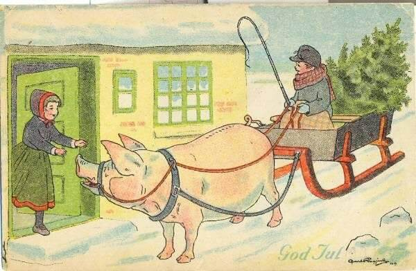 Swedish Card by Carl Rogind (1919)
