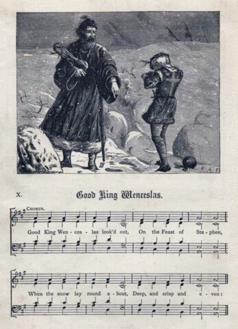 An illustration for the story Good King Wenceslas by the author Anonymous