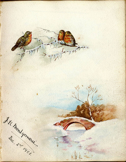 An illustration for the story A Hint for Next Christmas by the author A.A. Milne