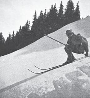An Alpine Pass on Ski, Doyle downhill