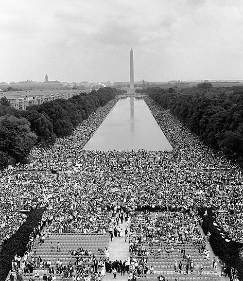 I Have a Dream, Mall crowd