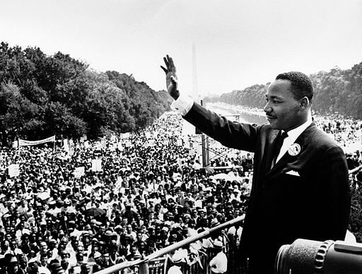 An illustration for the story I Have a Dream by the author Martin Luther King, Jr.