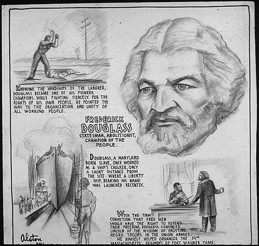 An illustration for the story My Escape from Slavery  by the author Frederick Douglass