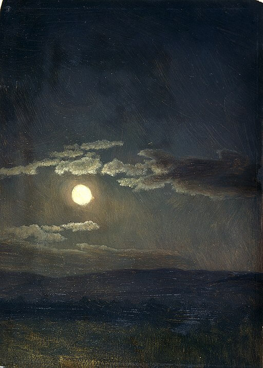 An illustration for the story Night and Moonlight by the author Henry David Thoreau