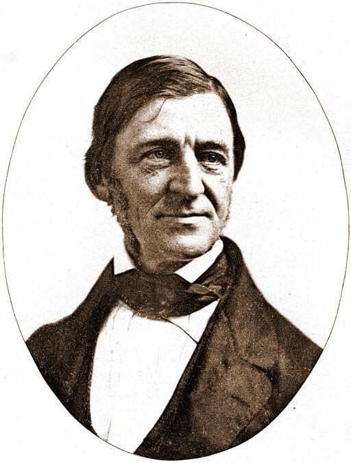 An illustration for the story Self-Reliance by the author Ralph Waldo Emerson