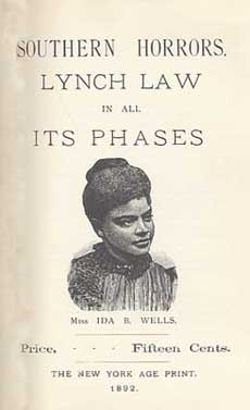 An illustration for the story The South's Position by the author Ida B. Wells