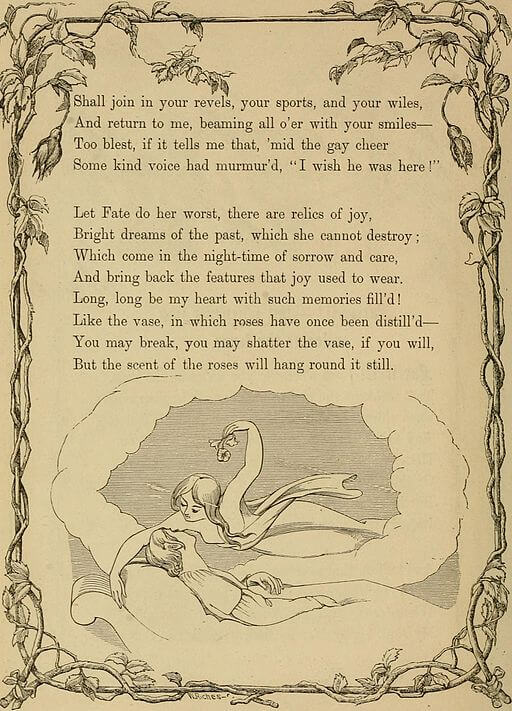An illustration for the story The Poetic Principle by the author Edgar Allan Poe